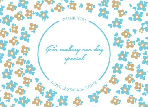 Morning Flowers - Thank You Card