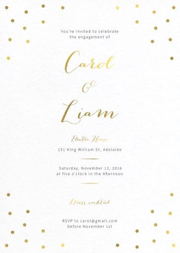 Goldie dots - Invitations