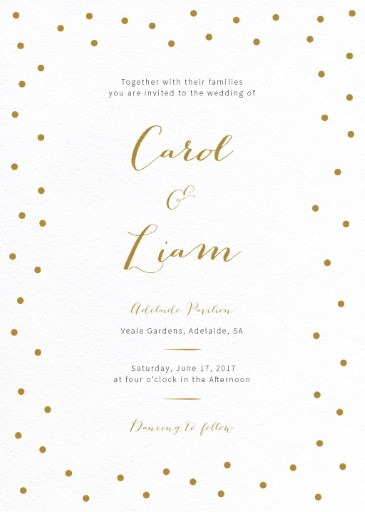 Goldie dots - Invitations