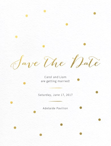 Goldie dots - Save The Date