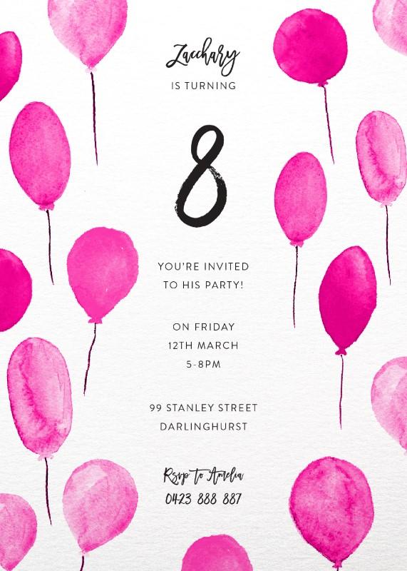 Birthday balloons dp birthday invitations birthday balloons birthday invitations arrow left front filmwisefo