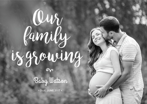 Our Family is Growing - Pregnancy Announcements