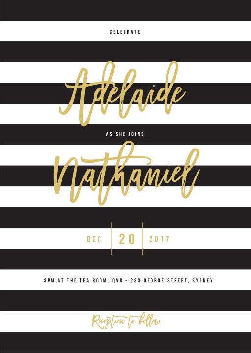Wedding stripe - Invitations