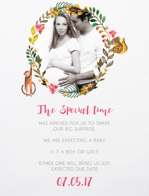 Alluring forest - baby shower invitations