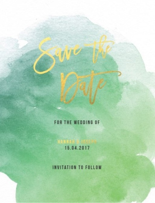 Aquarelle - Save The Date