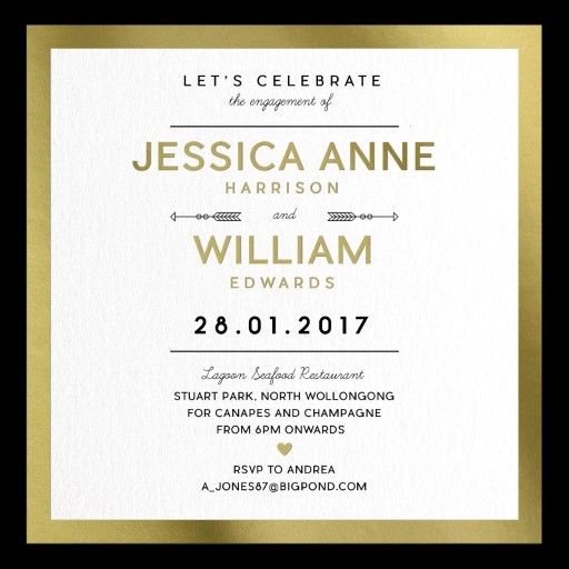 Fall In Love - Engagement Invitations