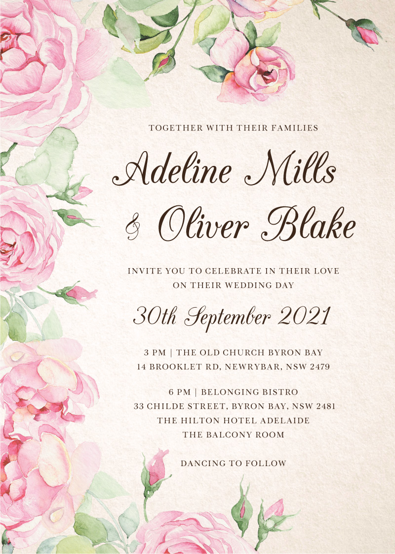 Good Spring Digital Printing Wedding Invitations