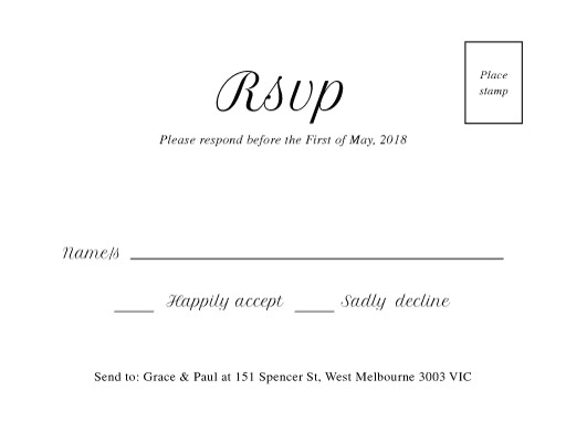 Double border - RSVP Cards