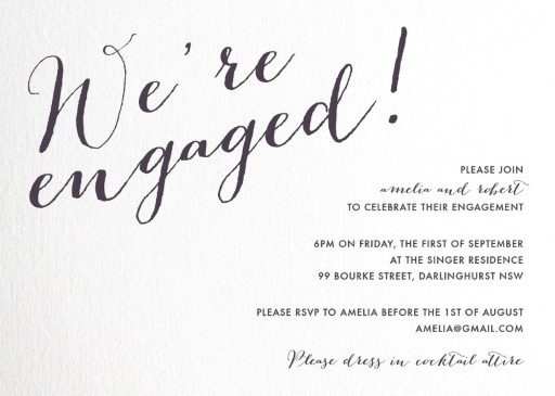 Script Engagement - engagement invitations
