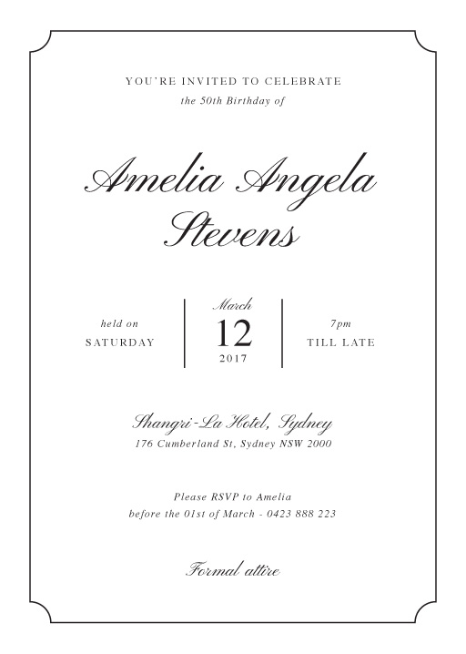 Classic Birthday - Birthday Invitations