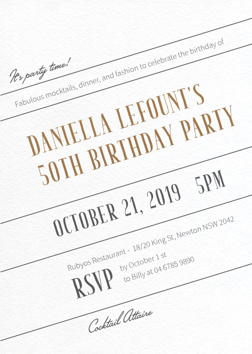 50th birthday invitations designs by creatives printed by paperlust t i l t birthday invitations stopboris Choice Image