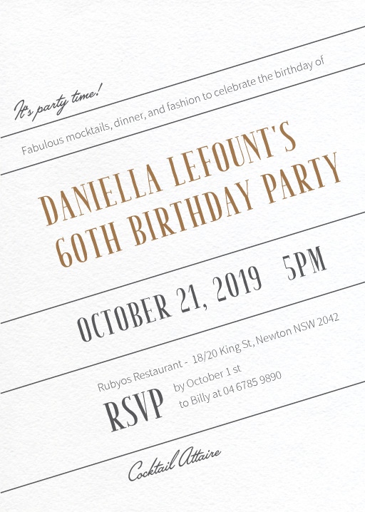 T I L T - Birthday Invitations
