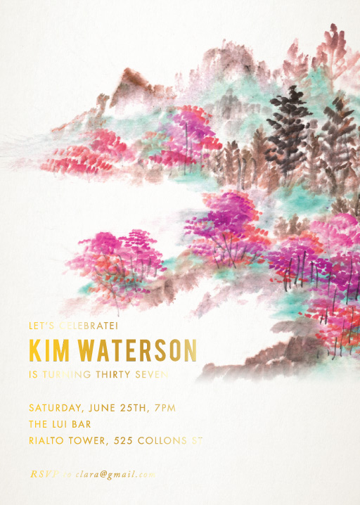Nature Mistic - Birthday Invitations