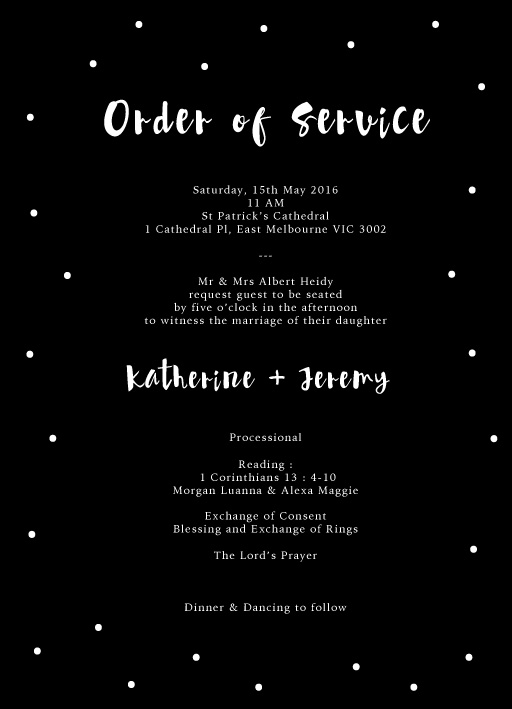 Dots - Order of Service