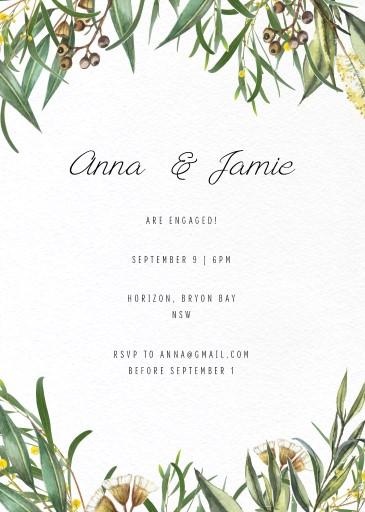 A Bouquet - Engagement Invitations