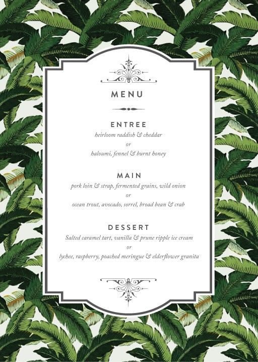 Beverly Hills Hotel - Menu Card