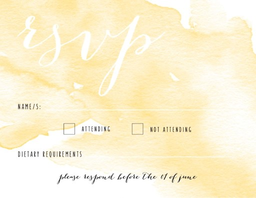 Floral Engagement - RSVP Cards