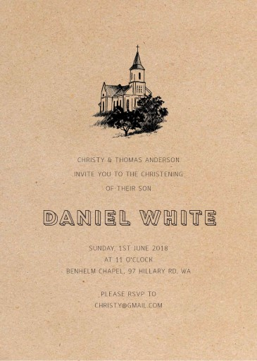 Church Hill - Christening Invitations