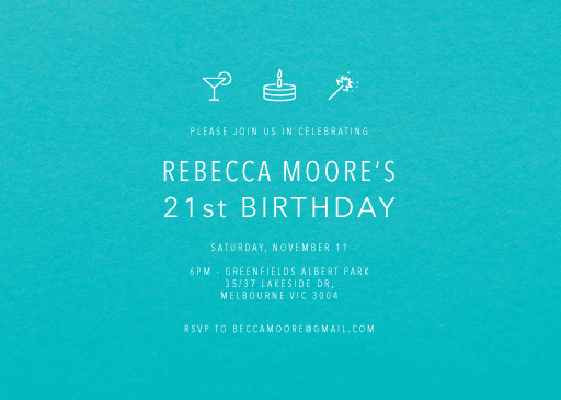Blow the Candles - Birthday Invitations
