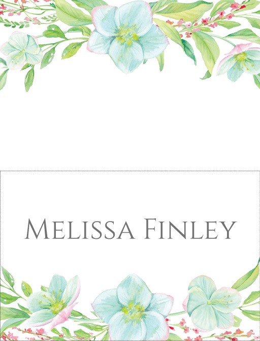 Hellebore - Place Card