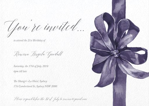 Elegant Birthday Invitations Customise And Print Online