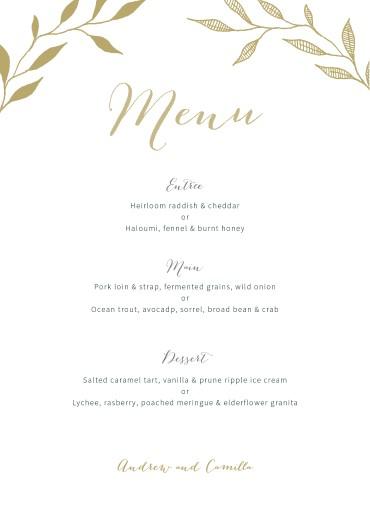 Leaves - Wedding Menu