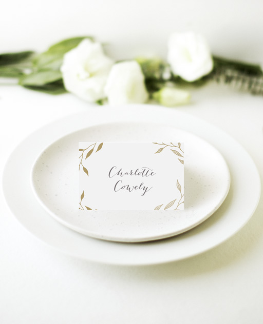 Leaves - Place Card