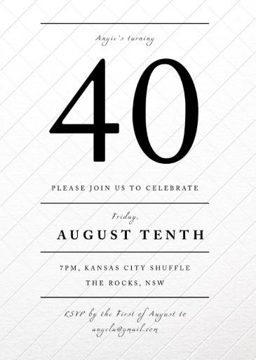 Letterpress birthday invitation cards party invitation cards type lines birthday invitations filmwisefo