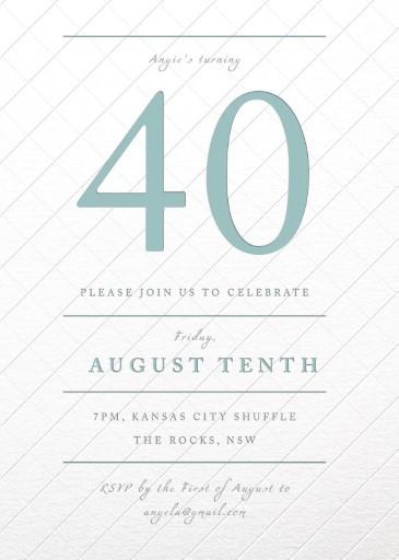 Type & Lines - Birthday Invitations