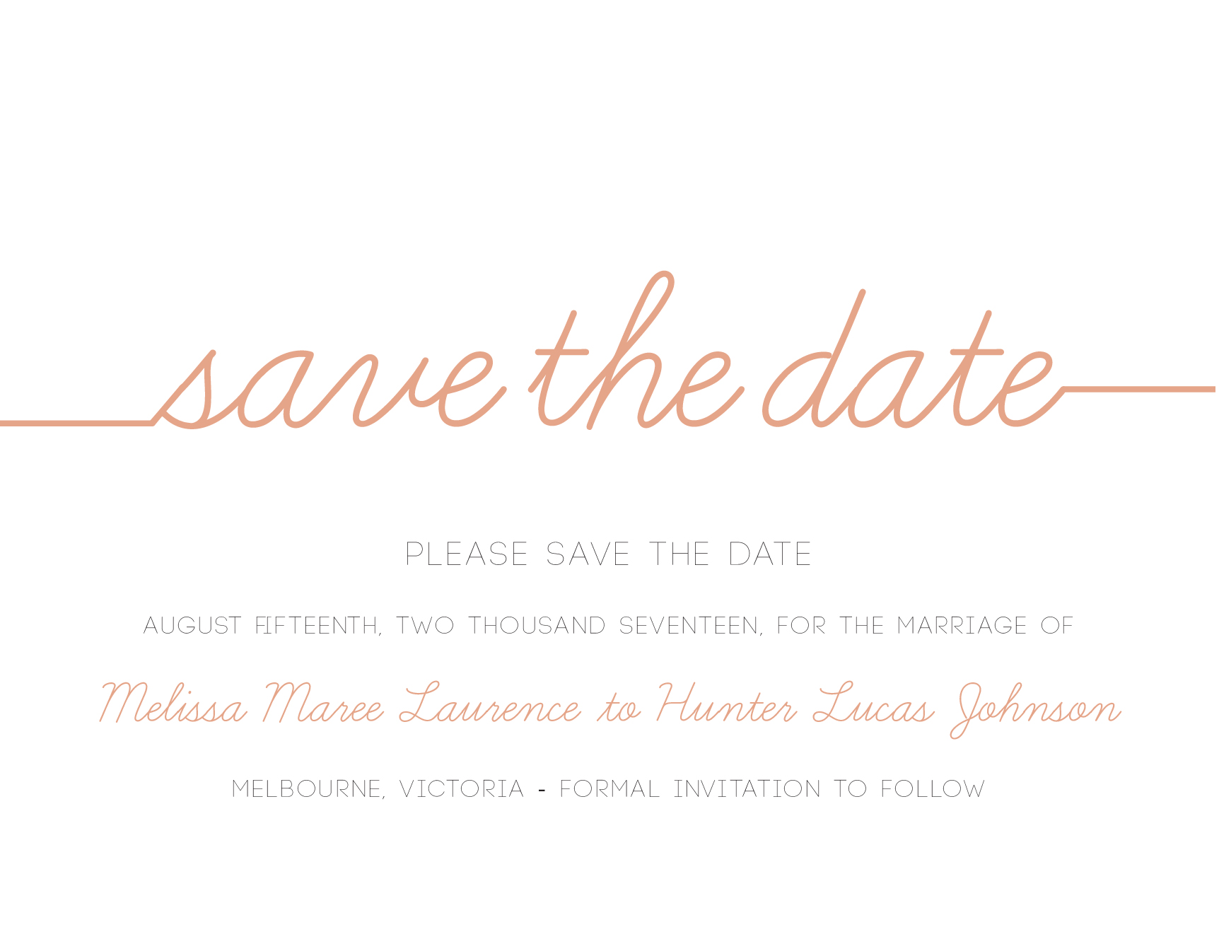 cursive digital printing save the date