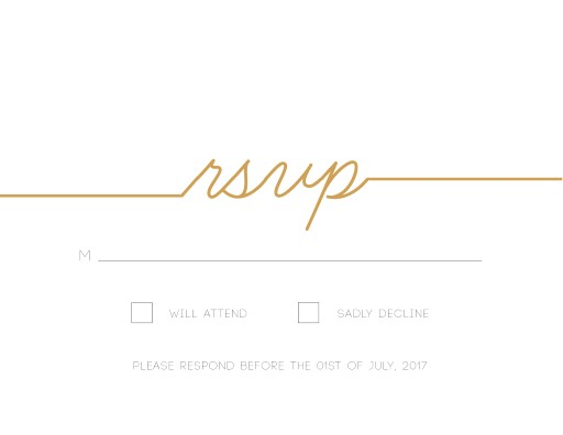 Cursive - RSVP Cards