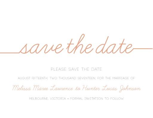 Cursive - Save The Date