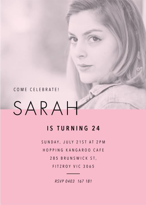 Grace - Birthday Invitations