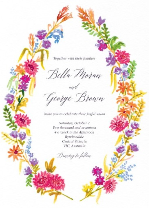 Flowers Hill - wedding invitations