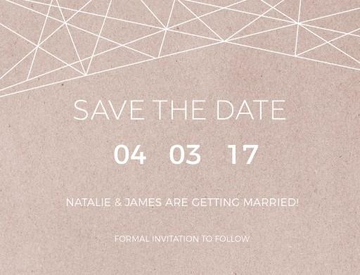 Geometric Copper - Save The Date