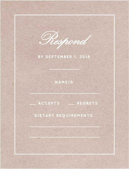 Into The Line - RSVP Cards