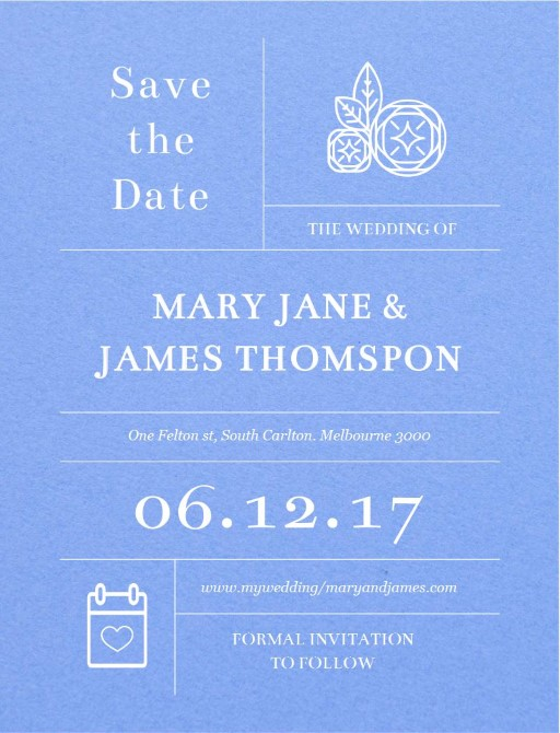 Type On Line - Save The Date
