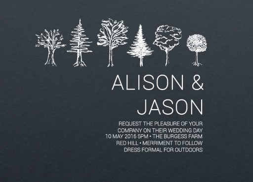 Paper Trees - Invitations