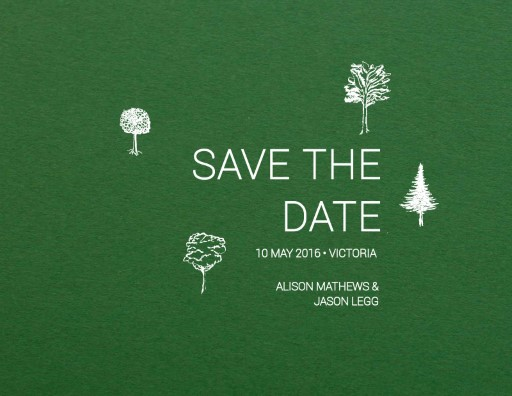 Paper Trees - Save The Date
