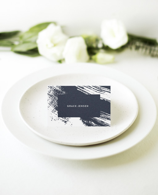 White Paint - Place Card