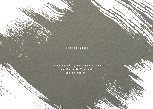White Paint - Thank You Cards
