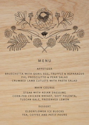 Australian Native Colour-In - Menu Card