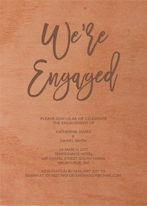 Simply Carefree - Engagement Invitations