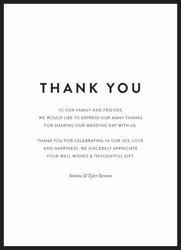 minimal digital printing thank you cards