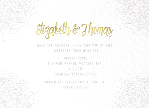 Elegant Collection - Invitation
