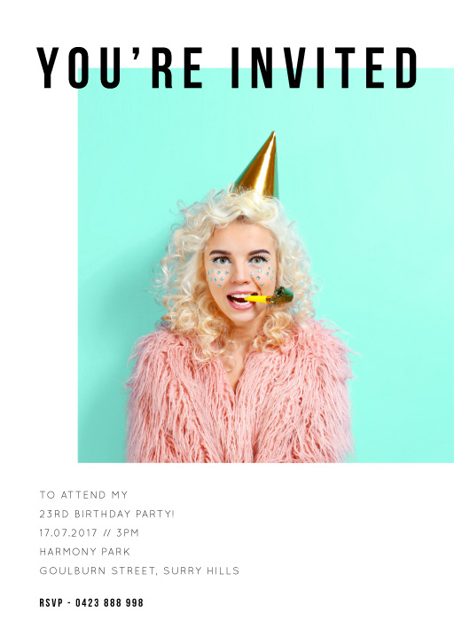 Editorial - Birthday Invitations