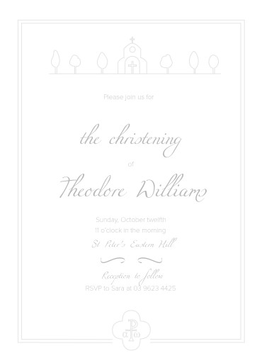Letterpress Christening Invitations