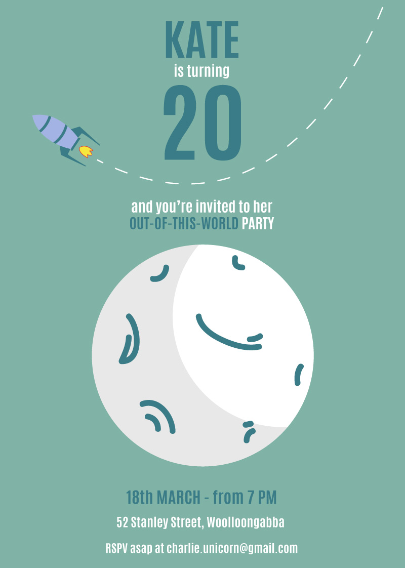 Out of this world dp birthday invitations for Out of this world design