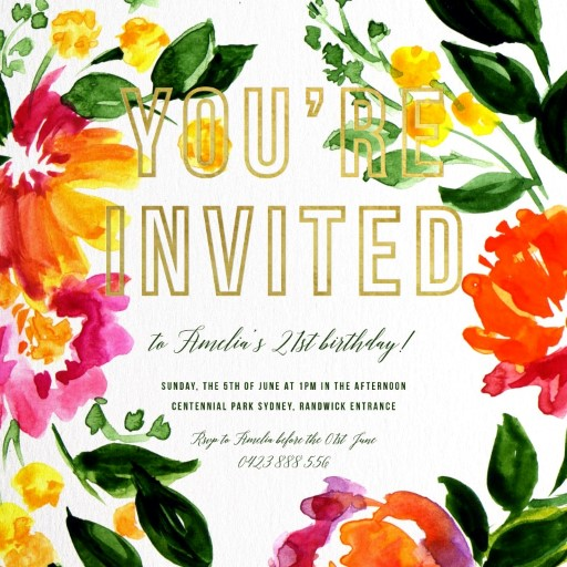 Spring birthday - Birthday Invitations