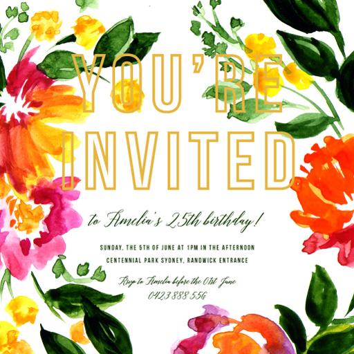 Spring birthday - Birthday Invitations